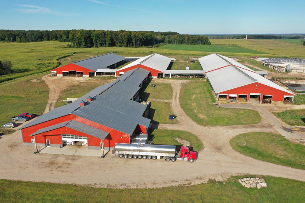Dairy Farm Milkhouse, Freestall and pole barn project